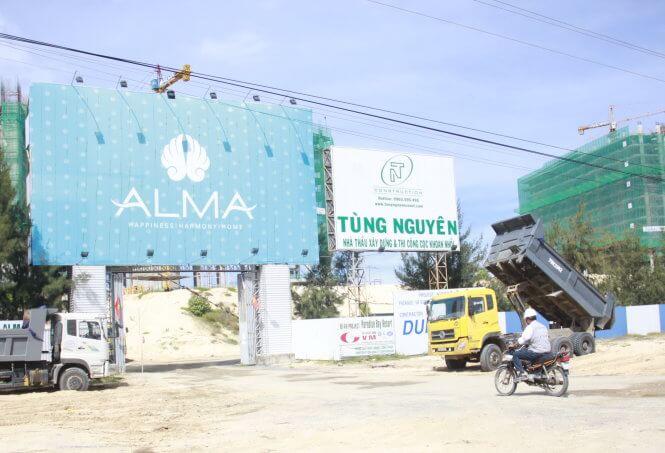 Dự án của ALMA hiện vẫn đang thi công tại khu vực Bãi Dài, Cam Ranh, Khánh Hòa (ảnh chụp ngày 3-7) - Ảnh: Thanh Trúc