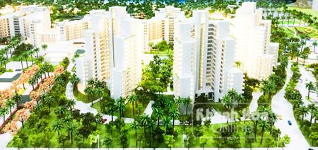 Phối cảnh Dự án Alma được trưng bày tại văn phòng Công ty TNHH Vịnh Thiên Đường (trong khách sạn Trần - Viễn Đông)
